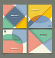 set of banners with geometric design can be used vector image vector image