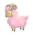 sheep pink vector image
