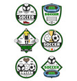 soccer championship badge football sport game vector image vector image