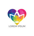 spa logo lotus wellness salon logo design vector image vector image