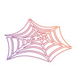 spiderweb halloween decorative icon vector image