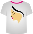T Shirt Template- Pretty blonde vector image vector image