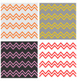 tile chevron pattern set with zig zag background vector image vector image