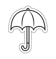 umbrella protection sign icon vector image vector image