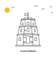 vilnius gediminas monument world travel natural vector image vector image