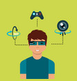 virtual reality related vector image vector image
