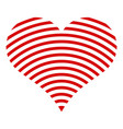 wave line heart icon simple style vector image vector image