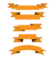 yellow paper scrolls set vector image