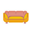 yellow-pink sofa isolated on white flat vector image vector image