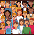 young people piled vector image vector image