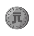 yuan coin china isolated icon vector image