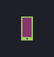 cellphone computer symbol vector image