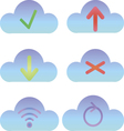 Set of cloud icons computing icons and logos vector image