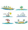 beach design elements vector image