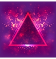 Abstract light background luminous triangular vector image vector image