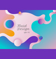 abstract modern fluid or liquid shape gradient vector image