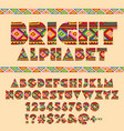 abstract pattern ethnic african style alpha vector image