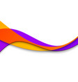 abstract smooth color wave curve flow vector image vector image