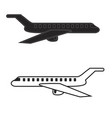 aircraft icons mobile app printing web site vector image