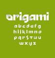 alphabet font alphabet font in origami design vector image vector image