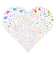 antenna fireworks heart vector image vector image