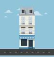 apartment - minimal building vector image vector image