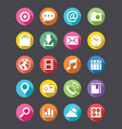 app icons collection flat look vector image vector image