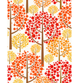 autumn forest - seamless pattern vector image vector image
