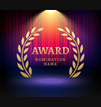 award laurel logo poster gold win vector image