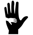 baand mother hands vector image