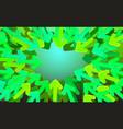 background start-up design green arrows directed vector image vector image