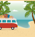 beach seascape beautiful scene vector image