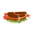 beef steak detailed food drink cooking vector image vector image