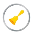 Bell icon cartoon Single education icon from the vector image vector image