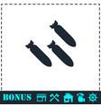bombing icon flat vector image vector image