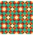 bright geometric retro pattern vector image