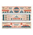 circus tickets horizontal banners invitation vector image