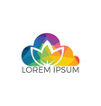 cloud spa logo lotus wellness salon logo design vector image vector image