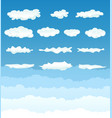 clouds collection vector image vector image