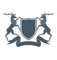 coat arms deer vector image