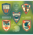 College rugby team vector image