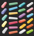 color chalk pastel sticks artist supplies vector image vector image