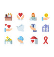 colored symbols of charities vector image vector image