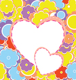 Colorful Valentines Background vector image vector image