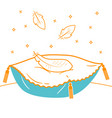 concept of a soft cushion vector image vector image