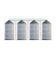 creative of agricultural silo vector image
