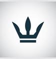 crown icon trendy simple symbol concept template vector image vector image