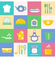 Cuisine and kitchen icons set vector image