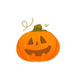 cute smiling grinning halloween pumpkin lantern vector image vector image