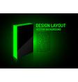 design box green vector image vector image
